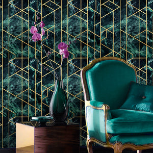 Gramercy Emerald Manhattan Wallpaper - MINDTHEGAP - Do Shop