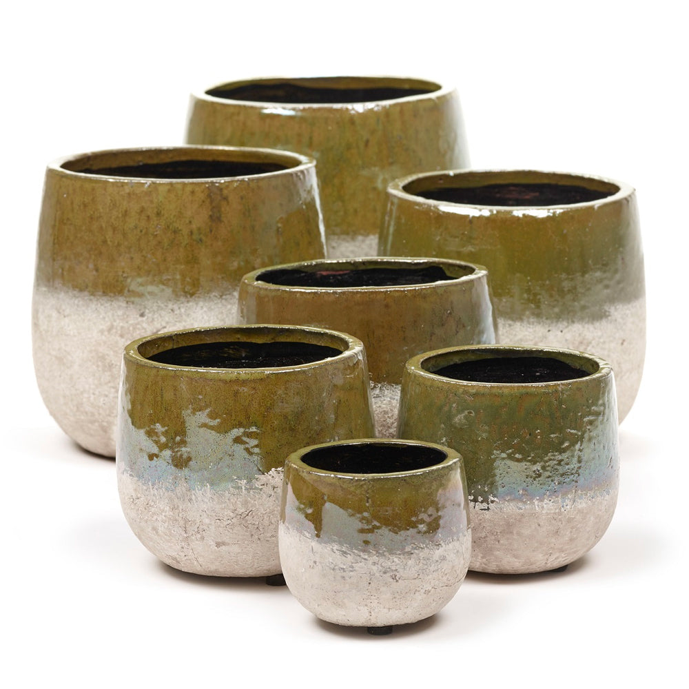 Green Sand Dip Plant Pot by Grace & Thorn | Do Shop