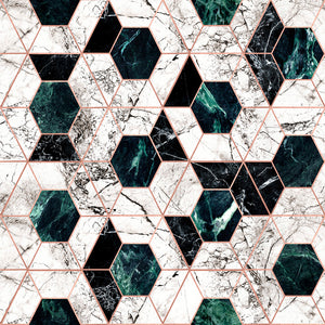 Hexa Jade Manhattan Wallpaper - MINDTHEGAP - Do Shop