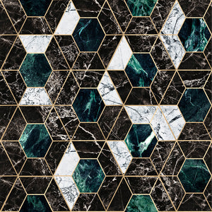 Hexa Onyx Manhattan Wallpaper - MINDTHEGAP - Do Shop