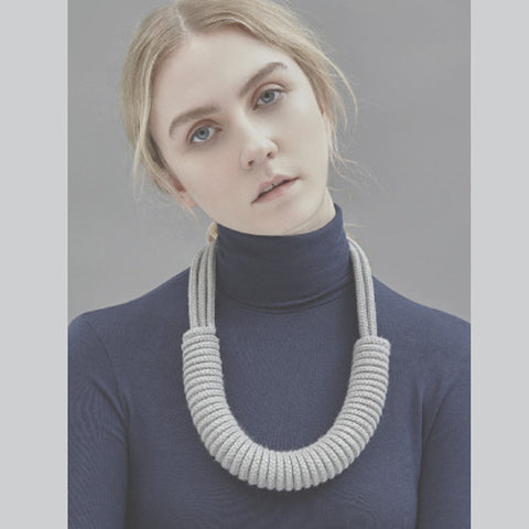 Half Coil Multi Necklace Grey - Eleanor Bolton - Do Shop