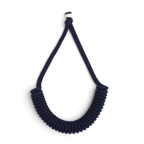Half Coil Necklace Navy - Eleanor Bolton - Do Shop