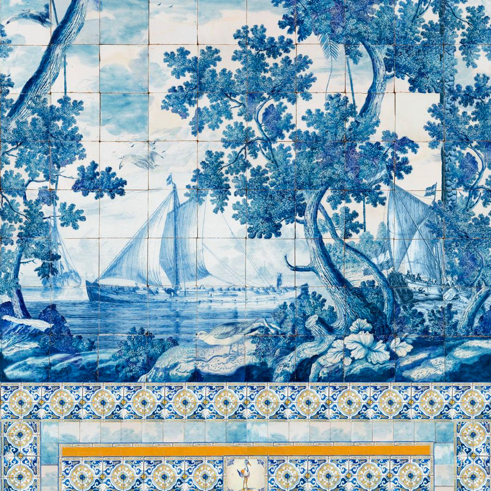 Azure Mural Wallpaper by MINDTHEGAP | Do Shop
