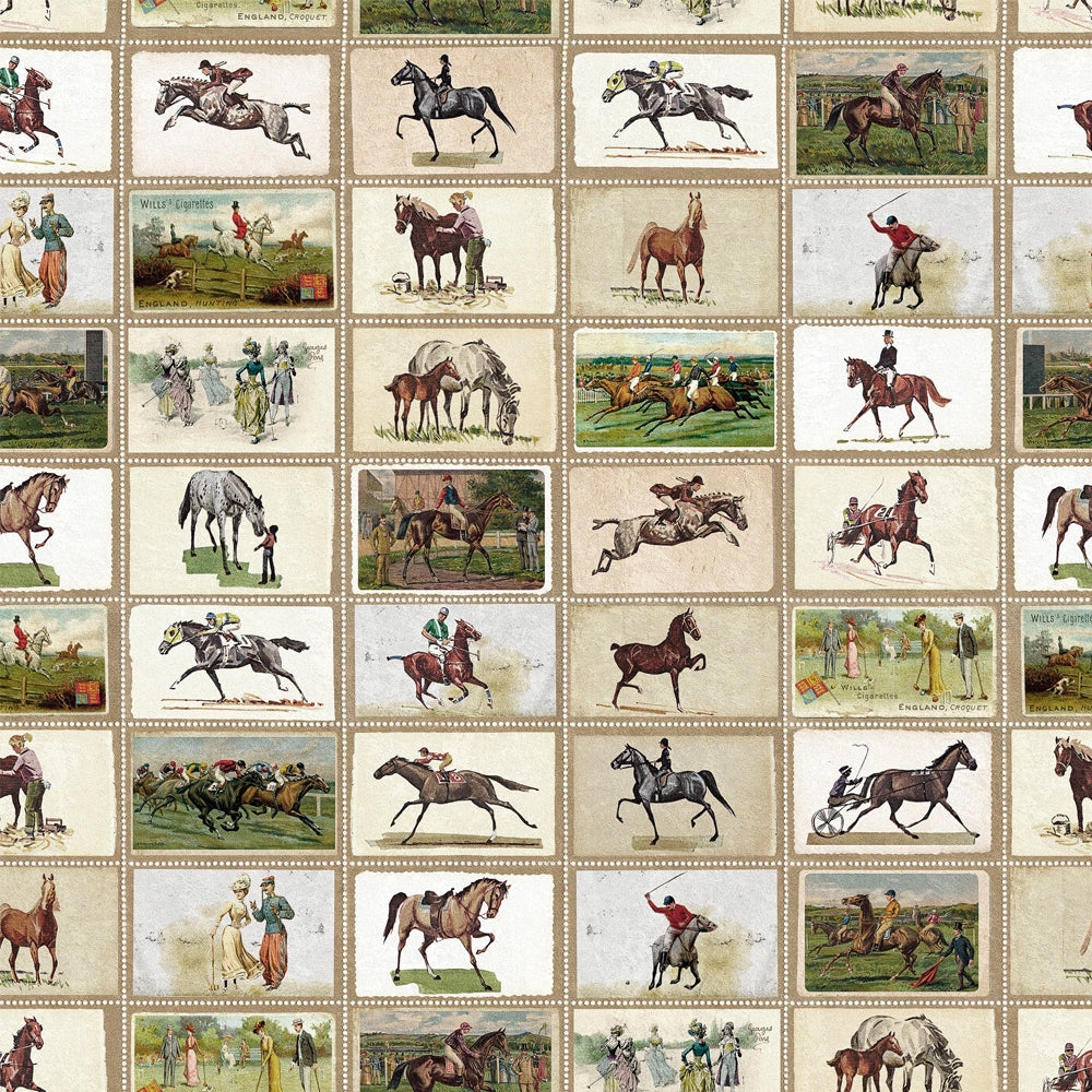 English Equestrian Stamps Wallpaper by MINDTHEGAP | Do Shop
