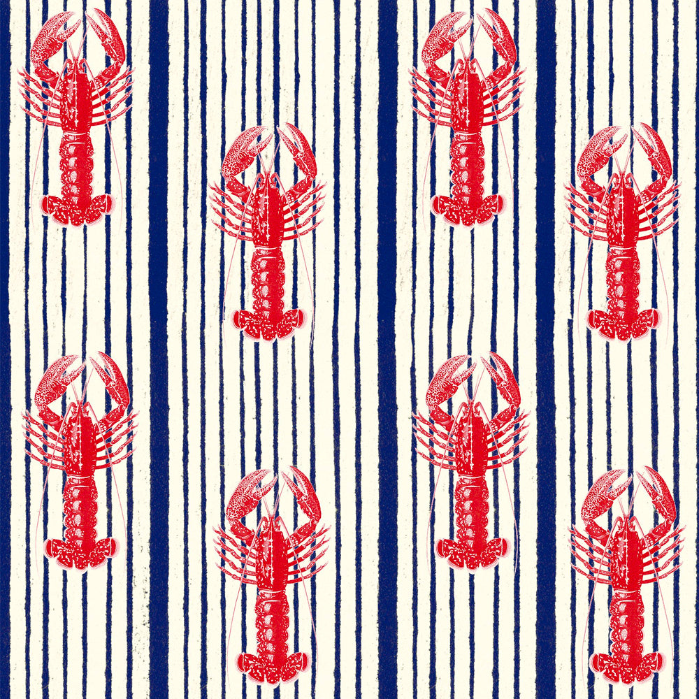 Mediterranean Lobster Wallpaper by MINDTHEGAP | Do Shop