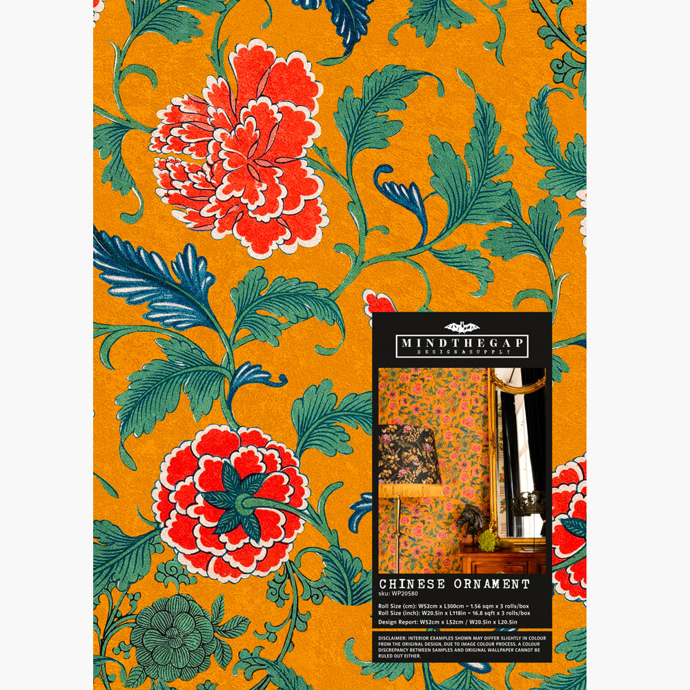 Chinese Ornament Wallpaper by MINDTHEGAP   Do Shop