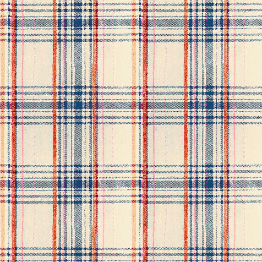 Seaport Plaid Wallpaper by MINDTHEGAP | Do Shop