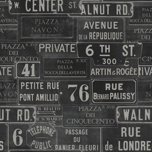 Vintage Signs Wallpaper by MINDTHEGAP | Do Shop