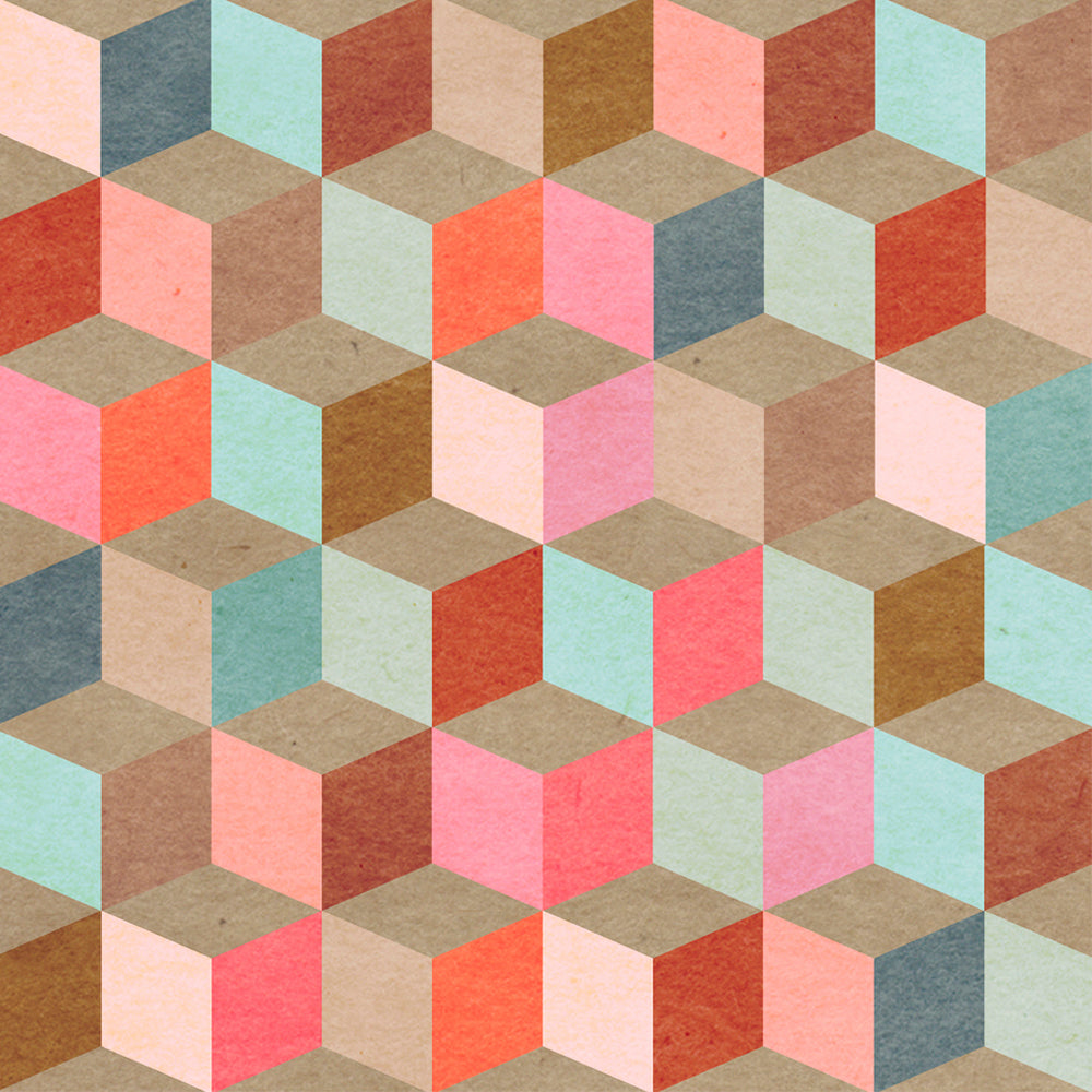 Coloured Geometry Wallpaper - MINDTHEGAP - Do Shop