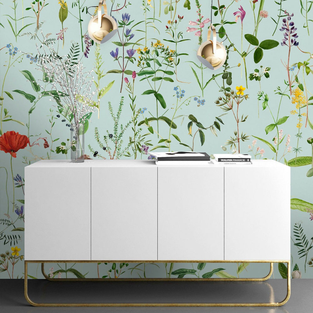 Aquafleur Wallpaper by MINDTHEGAP | Do Shop