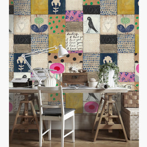 Collage Wallpaper by MINDTHEGAP | Do Shop