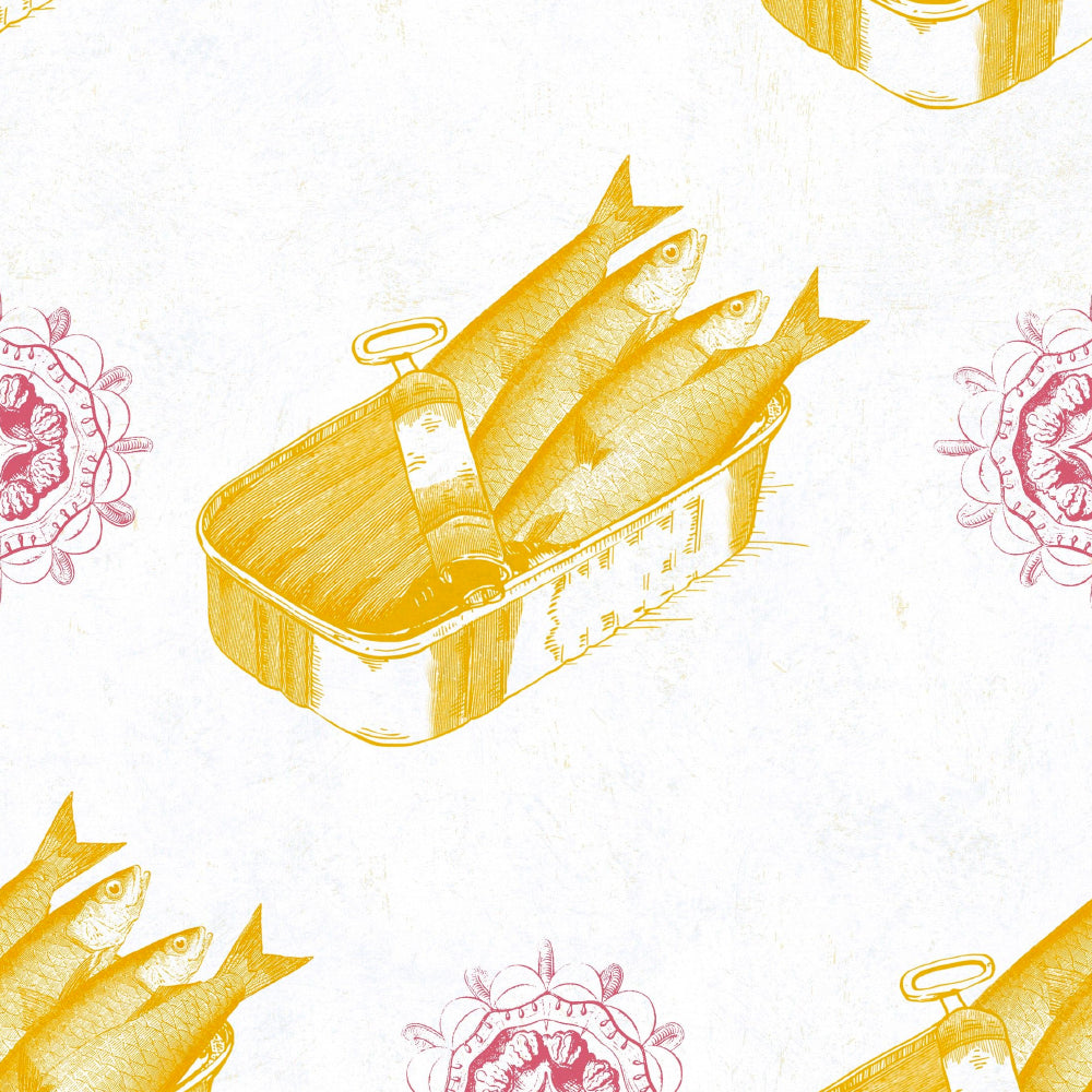 Sardines Wallpaper Wallpaper by MINDTHEGAP | Do Shop