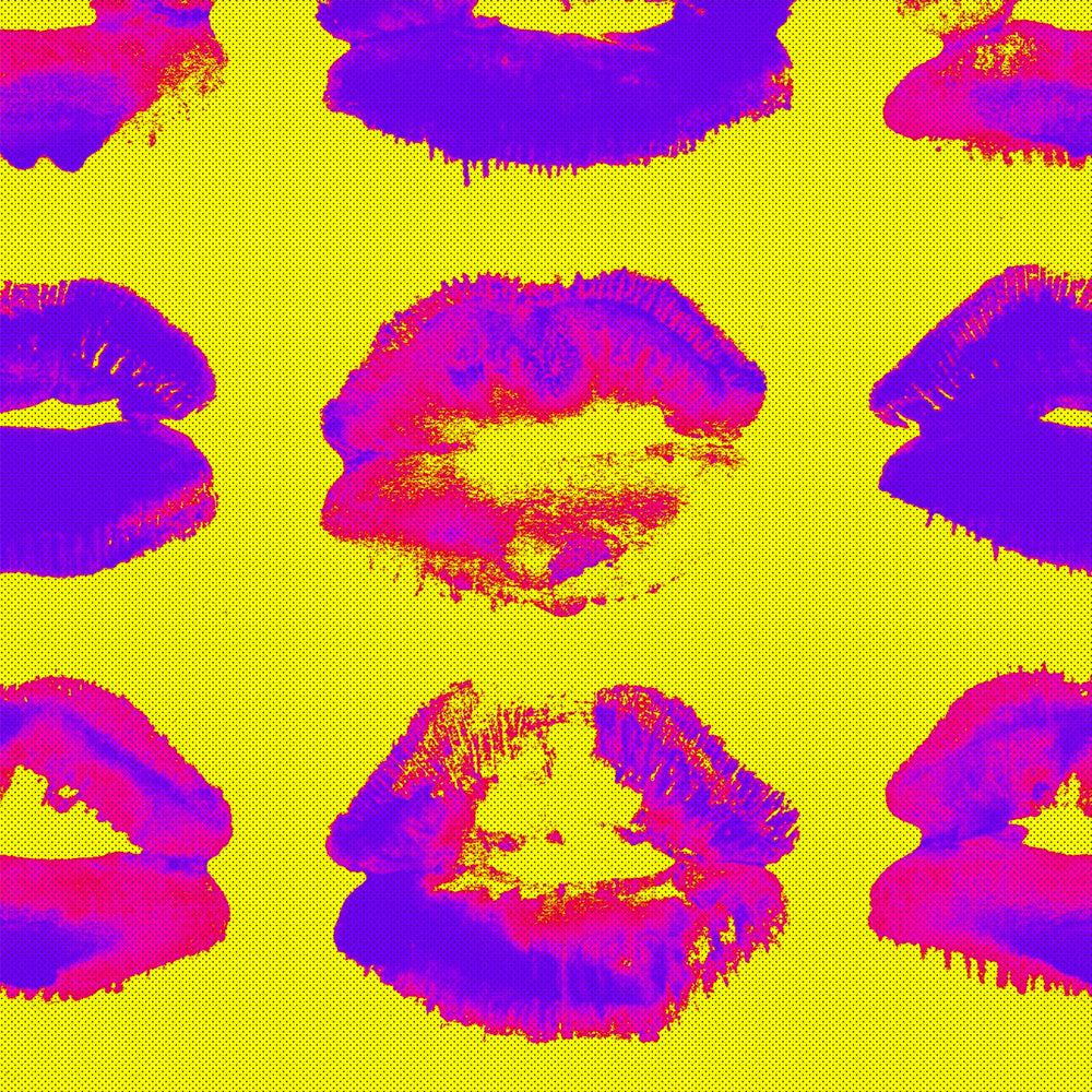 Neon Kiss Wallpaper - MINDTHEGAP - Do Shop