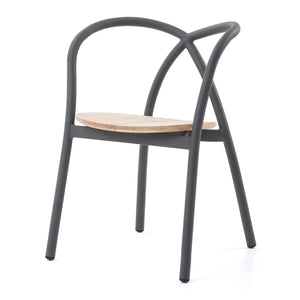 Ming Aluminium Chair With Wood Seat - Stellar Works - Do Shop