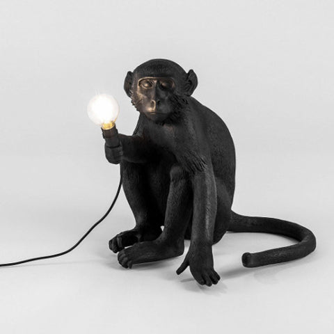 Monkey Lamp Sitting Black - Seletti - Do Shop