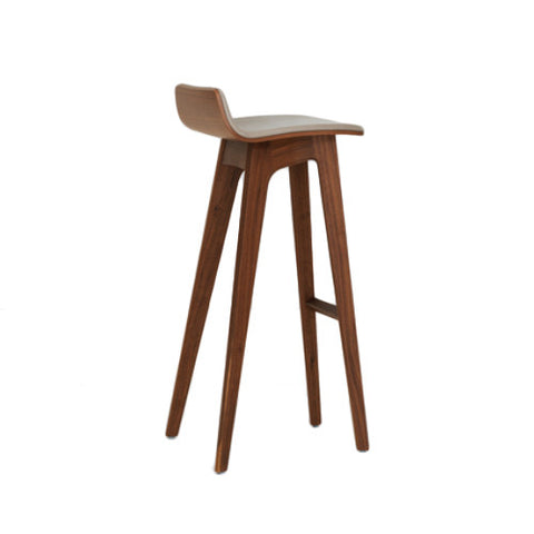 Morph Barstool, Seat in American Walnut, fully upholstered in fabric class 2 - Zeitraum - Do Shop