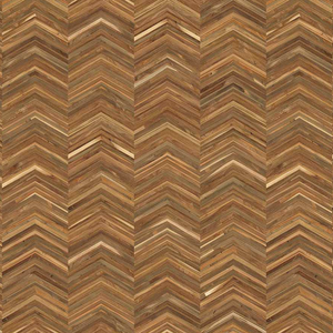 Teak On Teak Chevron Wallpaper by Piet Hein Eek - NLXL - Do Shop