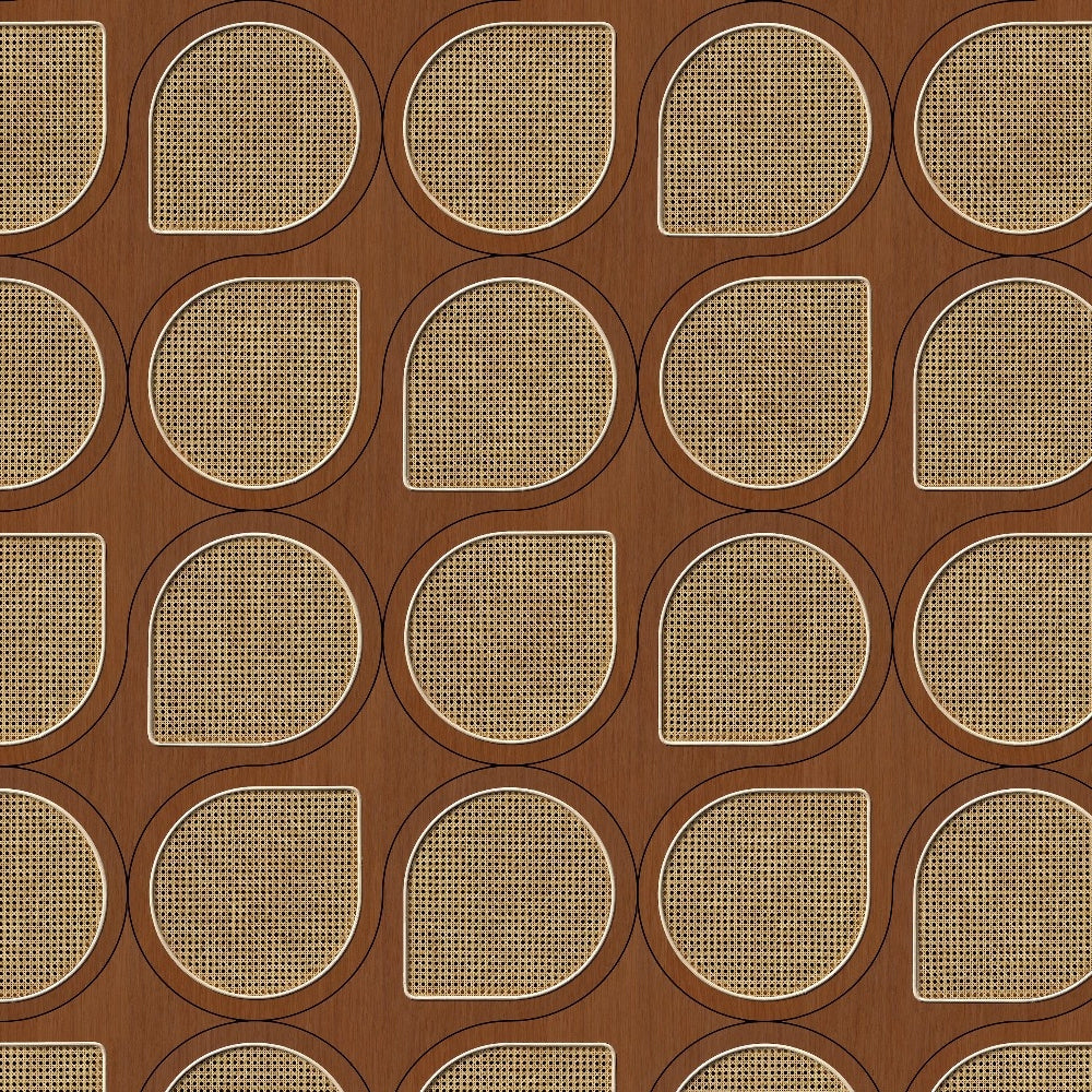Drops Webbing Mahogany Wallpaper by Studio Roderick Vos - NLXL | Do Shop