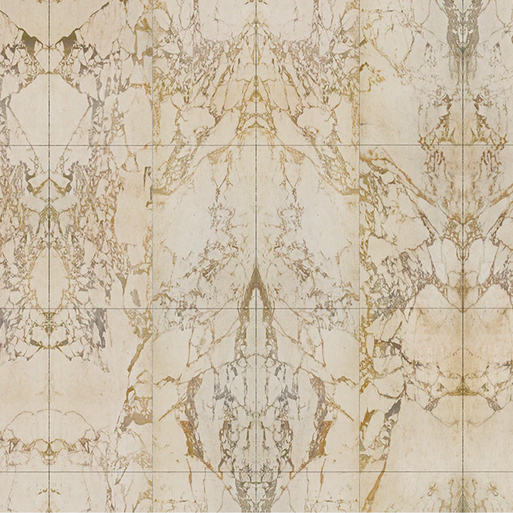 Beige Tiles 48.7 x 76.9 cm Mirrored Materials Wallpaper by Piet Hein Eek - NLXL - Do Shop