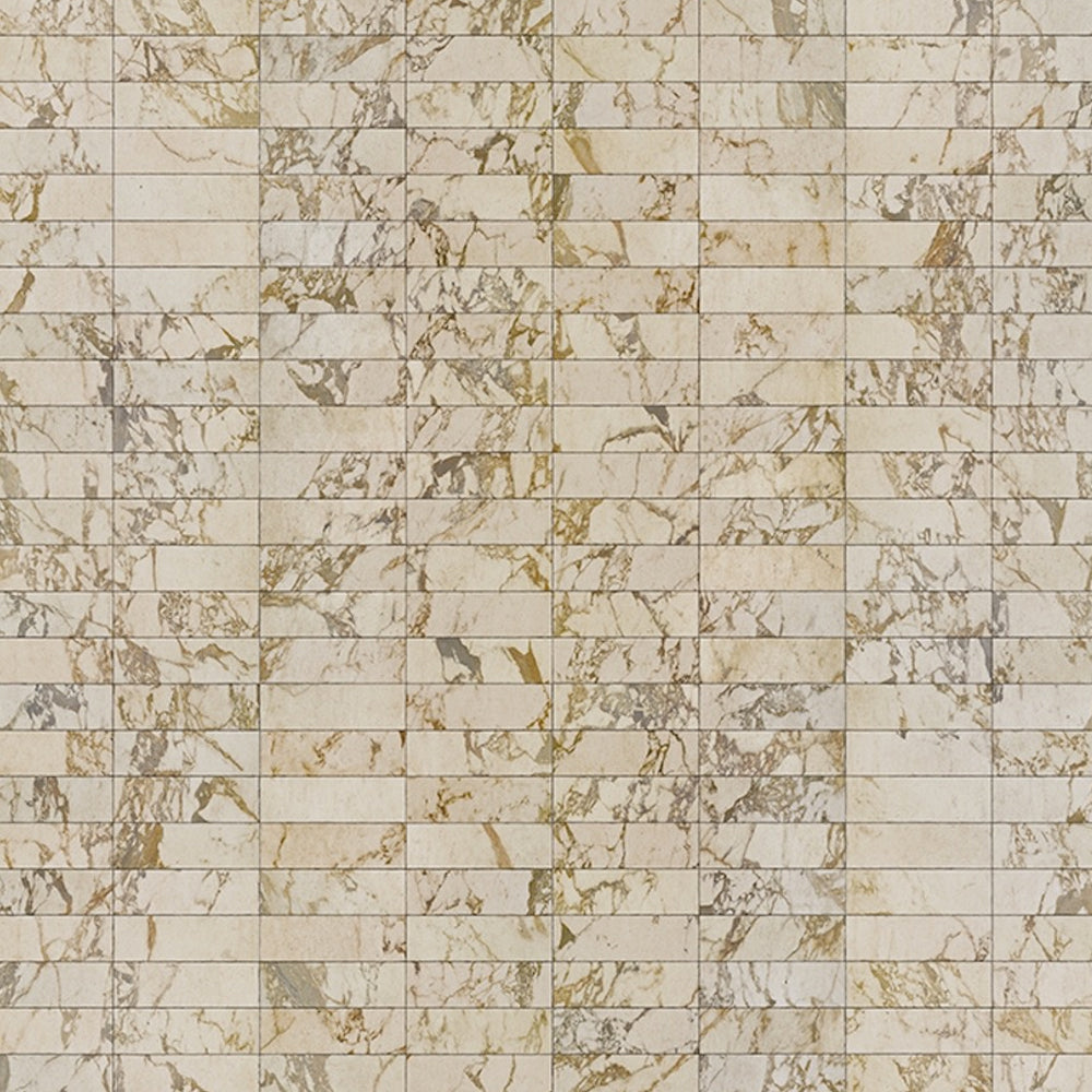 Beige Tiles 24.4 x 7.7 cm Materials Wallpaper by Piet Hein Eek - NLXL - Do Shop
