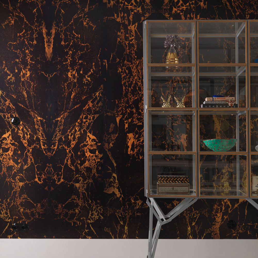 Black Metallic Marble Materials Wallpaper by Piet Hein Eek - NLXL - Do Shop