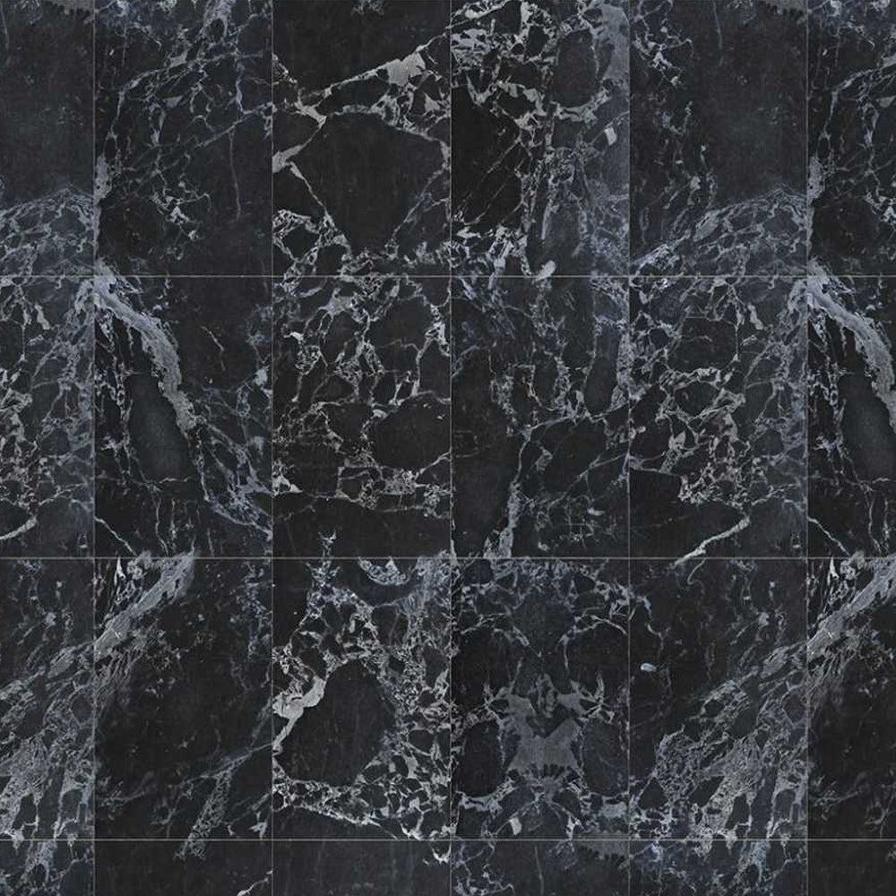 Black Marble Tiles 48.7 x 76.9 cm Materials Wallpaper by Piet Hein Eek - NLXL - Do Shop