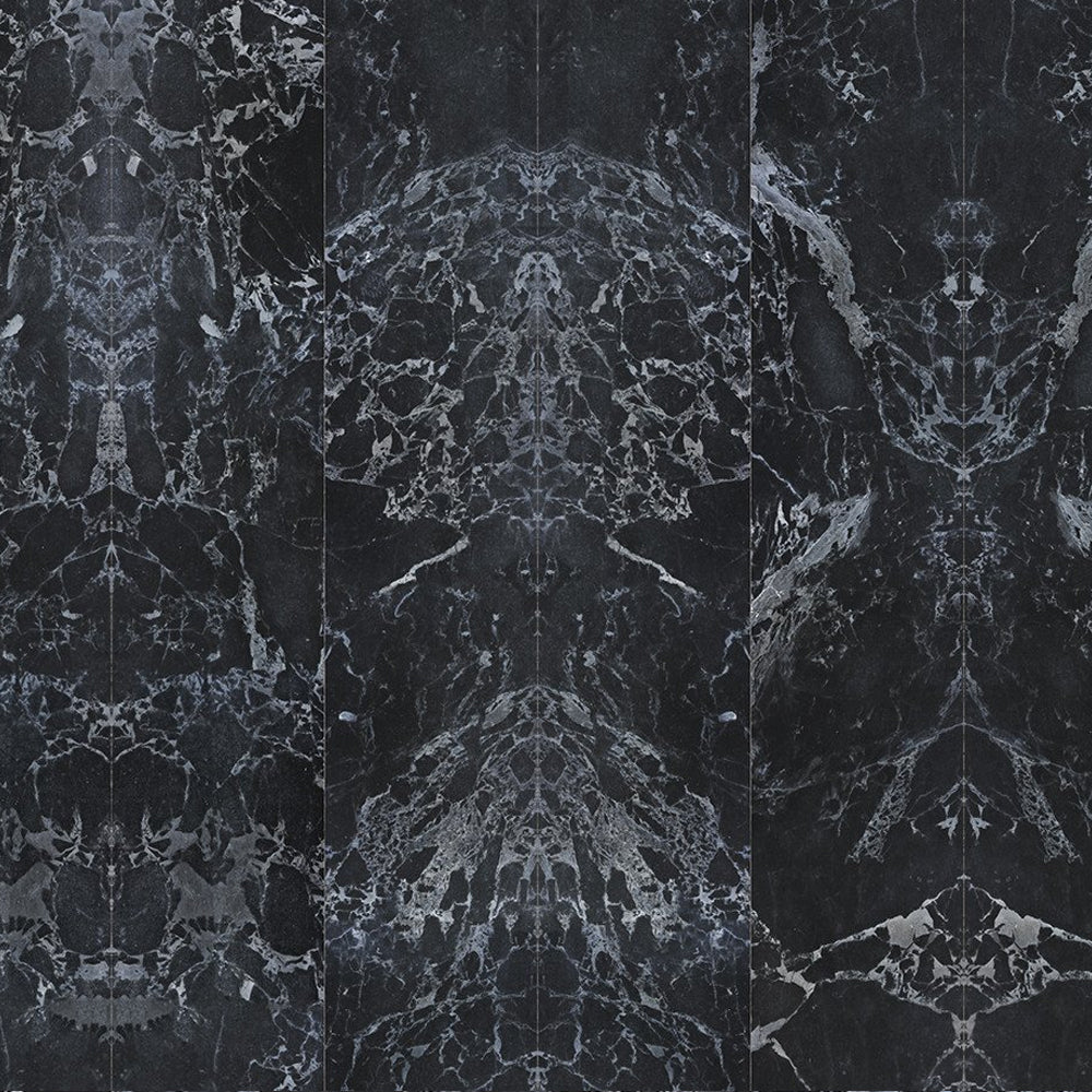 Black Marble Tiles 48.7 x 76.9 cm Mirrored Materials Wallpaper by Piet Hein Eek