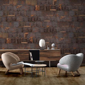 Rusted Metal Brown Wallpaper by Piet Hein Eek - NLXL - Do Shop