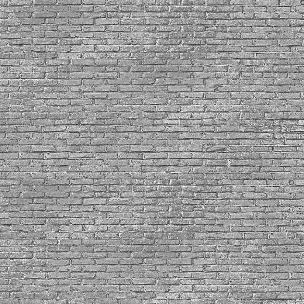 Silver Grey Brick Materials Wallpaper by Piet Hein Eek - NLXL - Do Shop