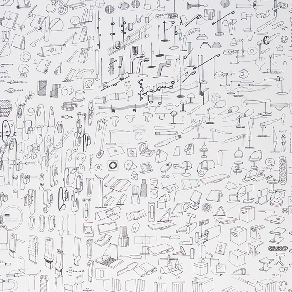 Sketches Wallpaper by Neil Poulton - NLXL LAB - Do Shop