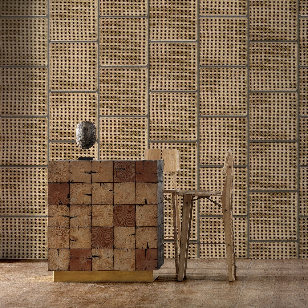 Square Webbing Grey Wallpaper by Studio Roderick Vos - NLXL | Do Shop