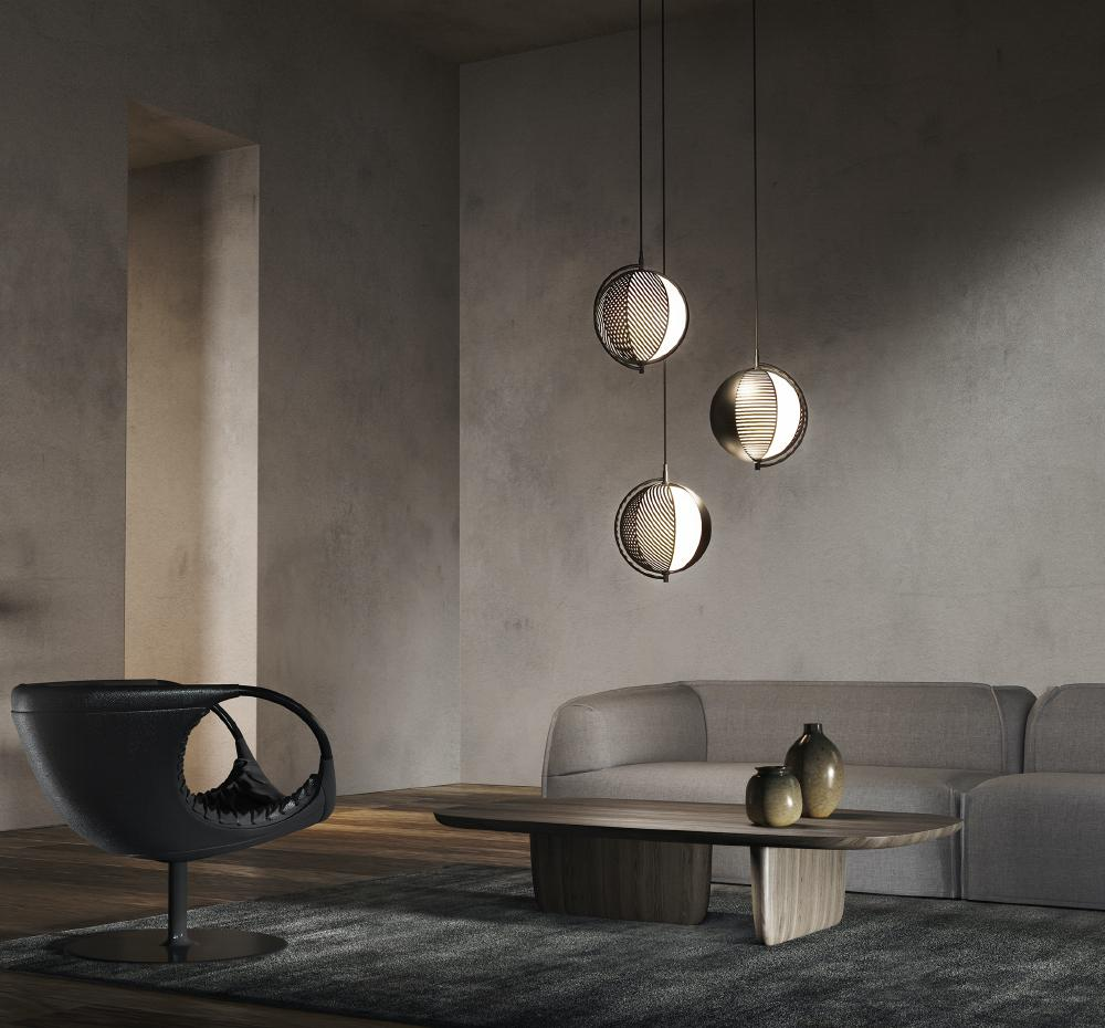 Mondo Triplette Pendant Lamp by Oblure | Do Shop