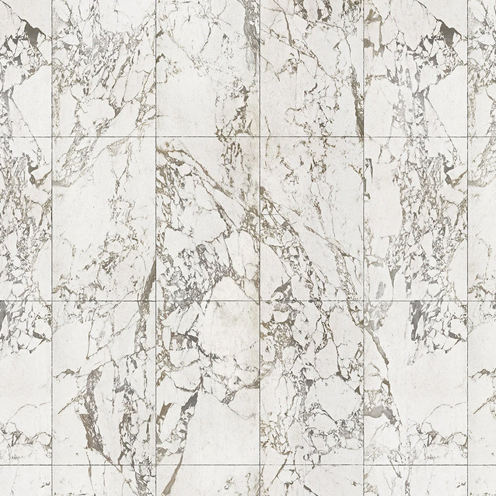 White Marble Tiles 48.7 x 76.9 cm Materials Wallpaper by Piet Hein Eek - NLXL - Do Shop