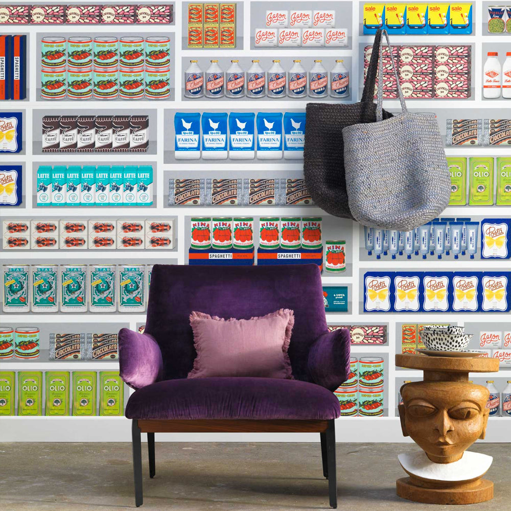 Supermarket Wallpaper by Paola Navone - NLXL LAB - Do Shop
