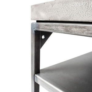Concrete Perspective Console With Shelf - Lyon Beton - Do Shop