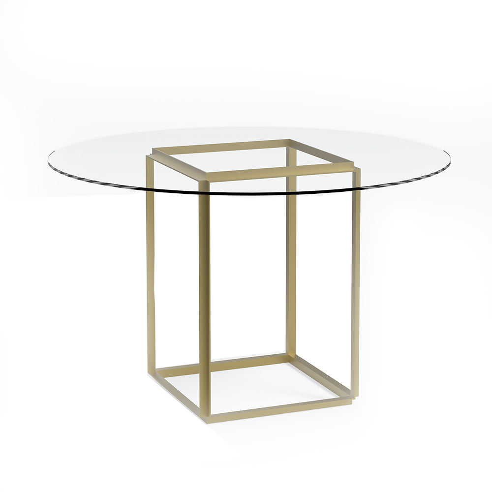 Florence Dining Table Gold Frame With Glass Top