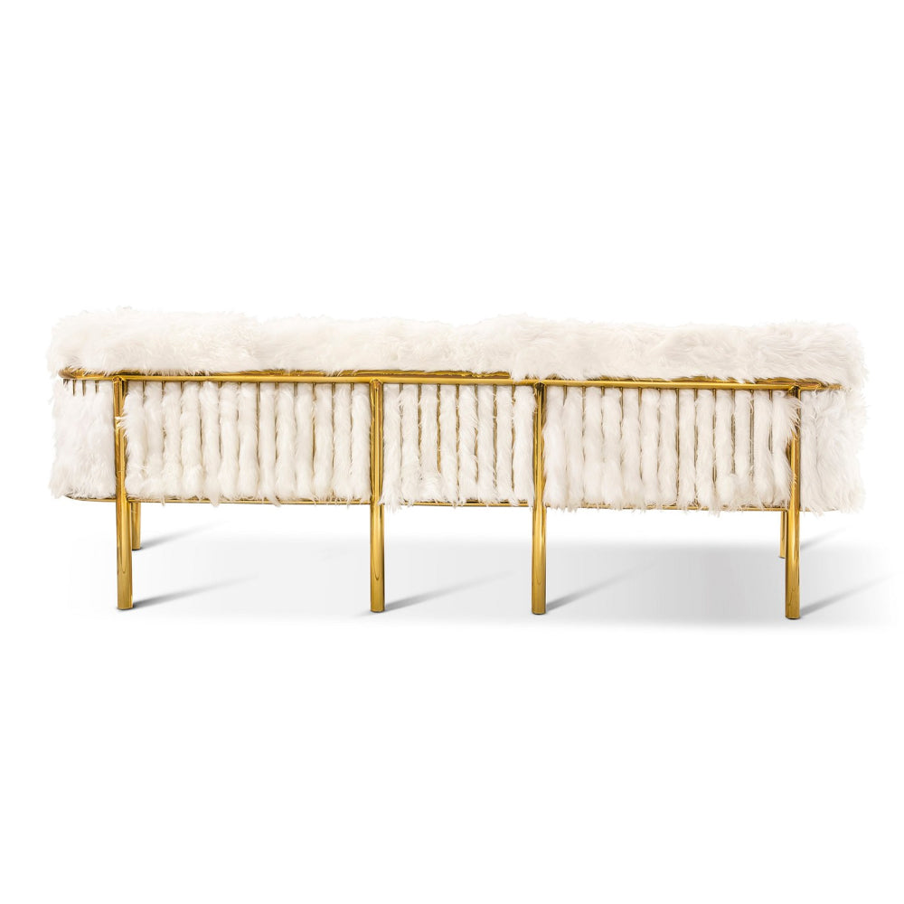 Snow White - Coronum Three Seater Sofa by Scarlet Splendour | Do Shop