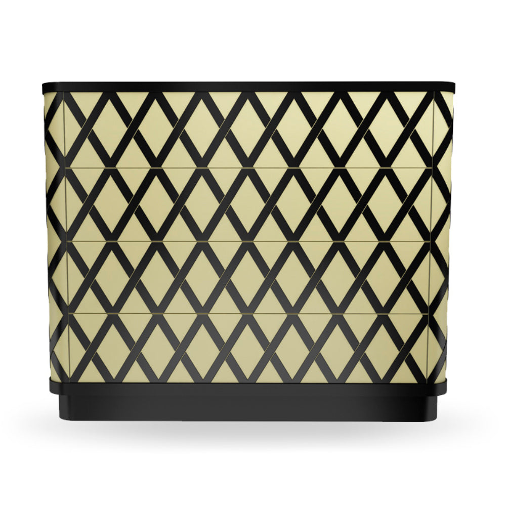 Vanilla Noir Napoleon Chest Of Drawers by Scarlet Splendour | Do Shop