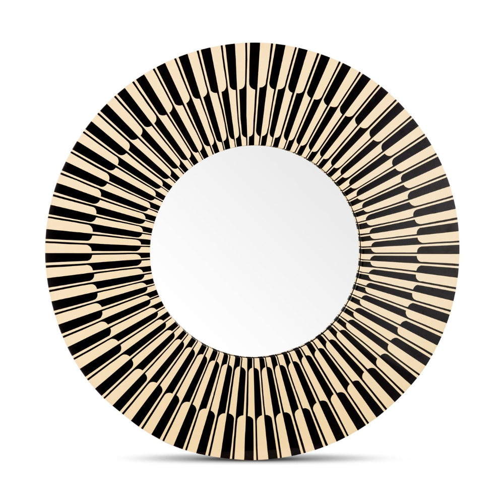 Vanilla Noir Citylights Big Round Mirror by Scarlet Splendour | Do Shop
