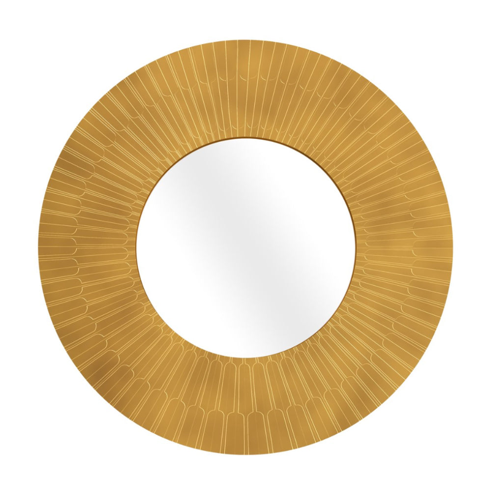 Vanilla Noir Oro Citylights Big Round Mirror by Scarlet Splendour | Do Shop