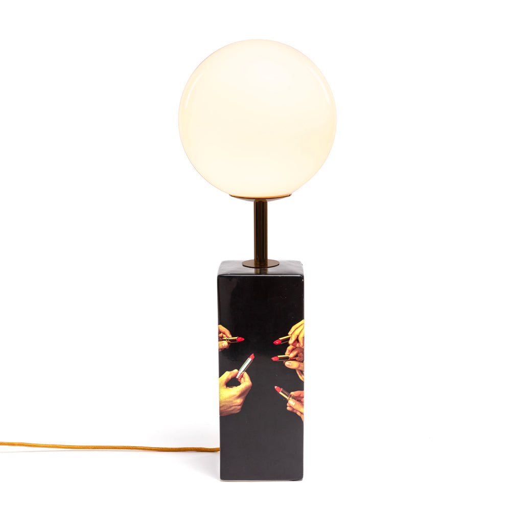 Black Lipstick Table Lamp by Seletti Wears Toiletpaper | Do Shop