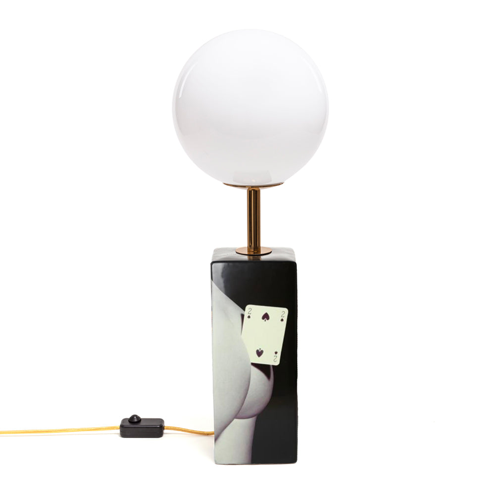 Two of Spades Table Lamp by Seletti Wears Toiletpaper | Do Shop