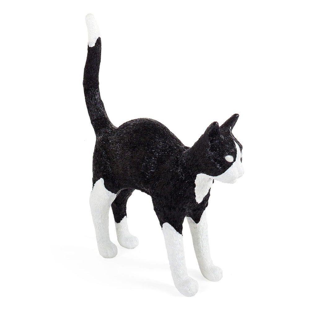 Jobby Felix Black & White The Cat Lamp by Seletti | Do Shop
