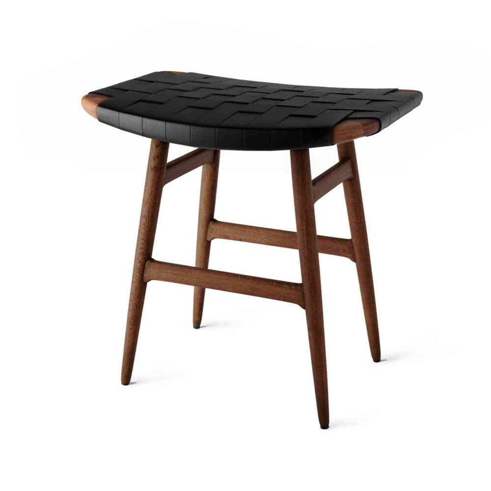 Freja Stool SH450 Leather Stripe Seat by Stellar Works | Do Shop