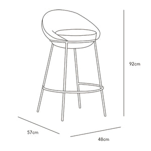 Nest Bar Stool with Backrest - Missana - Do Shop
