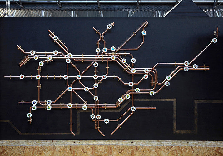 Pipework London Tube Map - Coat Rack