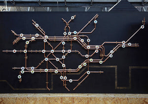 Pipework London Tube Map - Coat Rack - Nick Fraser - Do Shop