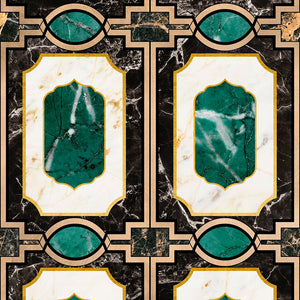 Waldorf Emerald Collectables Wallpaper - MINDTHEGAP - Do Shop