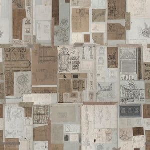 Sketch Book Home of an Eccentric Man Wallpaper by MINDTHEGAP | Do Shop