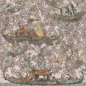 Journey To Eden Pink Transylvanian Manor Wallpaper by MINDTHEGAP | Do Shop
